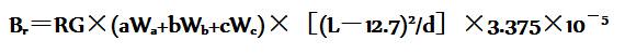 纺织品的硬挺度计算公式